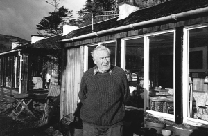 Ruari McLean in front of his home on Mull
