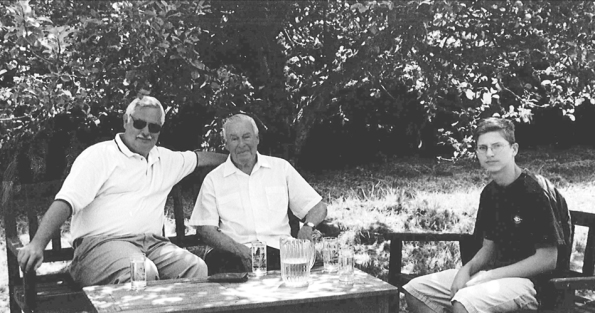 Bob, Ruari McLean, & Rob Fleck at Traquair House