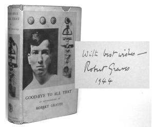 Cover of Goodbye to All That designed by Len Lye