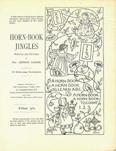Prospectus for Horn-Book Jingles (1896-7) (Photo courtesy of Peter Lobbenberg)