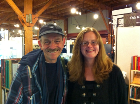 Author Steven Abbott with Publishing Director Laura Williams